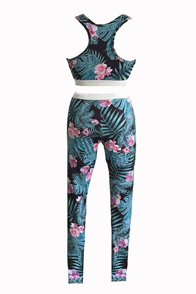 Multi Blending Pants Print O neck Sleeveless Sexy