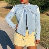 Lovely Chic Mandarin Collar Bow-Tie Shirt