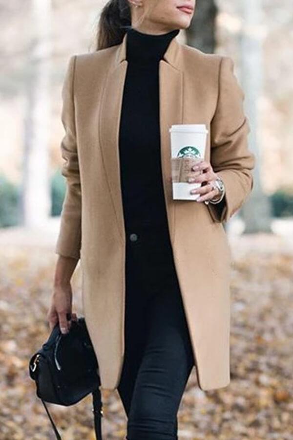 Lovely Work Basic Khaki Coat