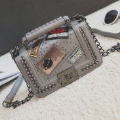 Lovely Stylish Chain Strap Grey Crossbody Bags