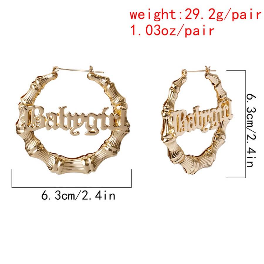 Lovely Trendy Letter Gold Earring