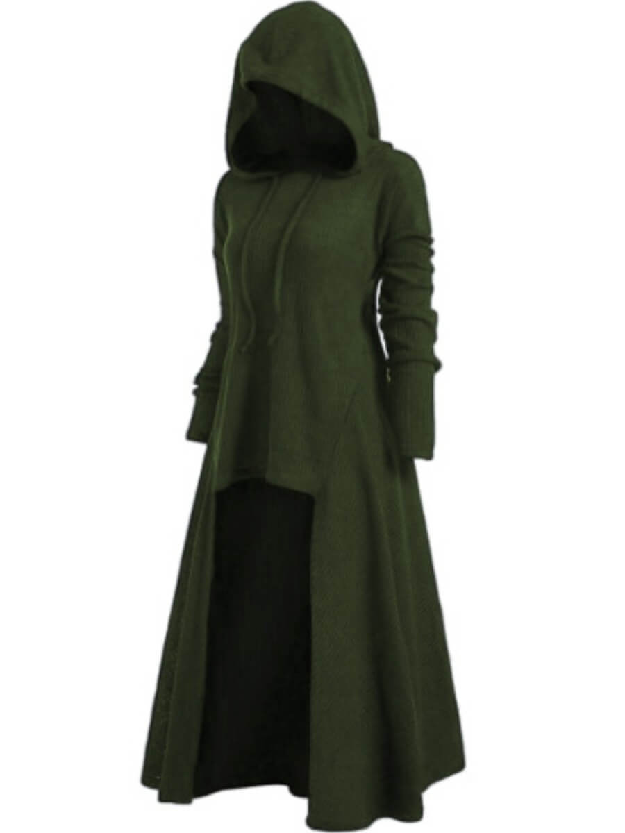 Lovely Casual Hooded Collar Asymmetrical Blackish