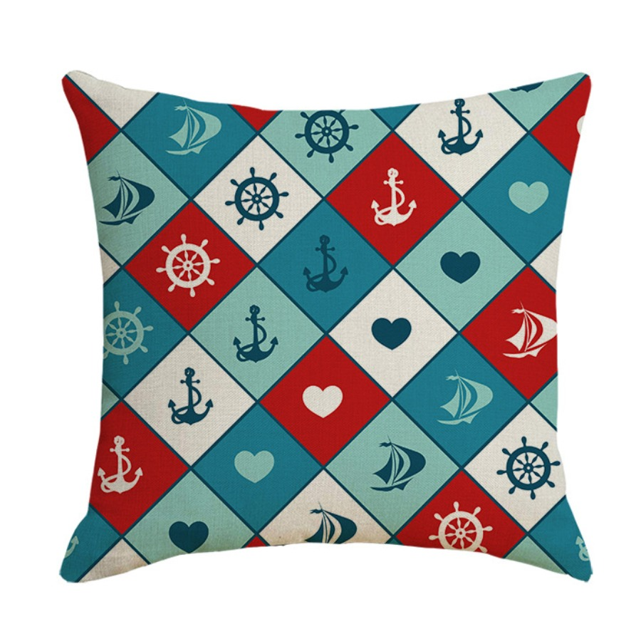 Lovely Cosy Print Red Decorative Pillow Case